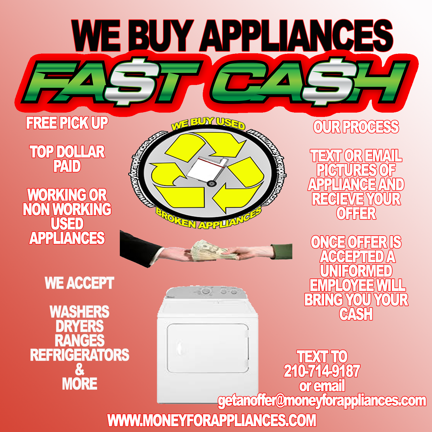 WE Buy Appliances San Antonio/ Appliance Repair San Antonio